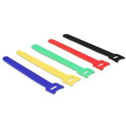 Delock Vázací pásky na suchý zip barevné D 150 x Š 12 mm 10 ks