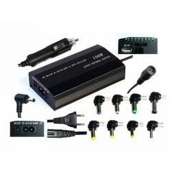 EUROCASE univerzální napájecí adaptér 100W (12-24V) 9 koncovek/ i do auta
