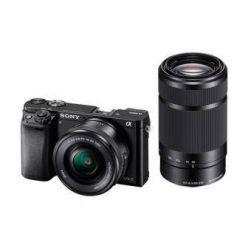 SONY ILCE-6000 Fotoaparát Alfa 6000 s bajonetem E + 16-50mm a 55-210mm objektiv  - Black