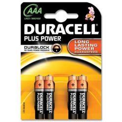 Duracell Plus Power AAA alkalické baterie, 4 ks