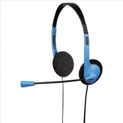 Hama HS-101, headset k PC, černo-modrý