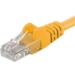 PremiumCord Patch kabel UTP RJ45-RJ45 CAT6 2m žlutá