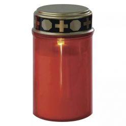 Emos LED hřbitovní svíčka, 12,5 cm, venkovní i vnitřní, teplá bílá, časovač, 2x C