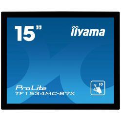 "15"" iiyama TF1534MC-B7X: TN, XGA, capacitive, 10P, 370cd/m2, VGA, DP, HDMI, IP65, černý"