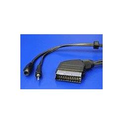 Kabel Scart(M) -> S-video(M) / jack3.5mm M, 15m