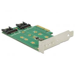 Delock PCI Express Karta > 3 x M.2 Slot – low profile