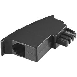 Telefonní redukce TAE-F / RJ11 (6/4), černá