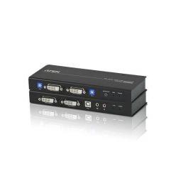 ATEN KVM extender CE-604 USB , Dual View (2 x DVI) audio a konzole extender s USB klávesnicí a myší +RS-232 port, 60m