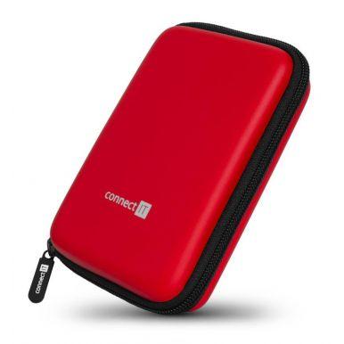 "CONNECT IT HardShellProtect pevné skořepinové ochranné pouzdro na 2,5"" HDD, červené"