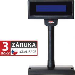 LCD zák.displej FL-2024MB 2x20 RS232, černý, bez zdroje