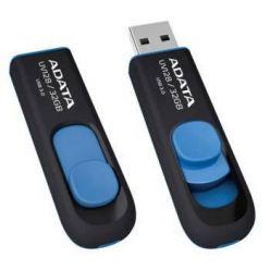 ADATA Dash Drive UV128 - 128GB, flash disk, USB 3.0, černo-modrý