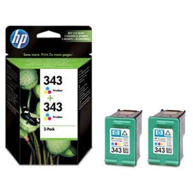 HP č.343, barevná inkoustová cartridge, dual pack, 2x 7ml, CB332EE