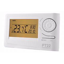 ELEKTROBOCK Prostorový termostat PT22   programovatelný, velký LCD displej