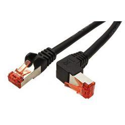S/FTP patchkabel kat.6, lomený konektor, 0,25m, černý