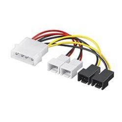 Redukce 4pin molex : 4x 3pin, 10cm Primecooler PC-MX1