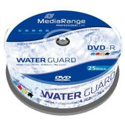 MEDIARANGE DVD-R 4.7GB, 16x, printable, 25ks, spindle