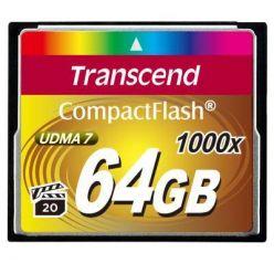 Transcend 64GB CompactFlash paměťová karta, 1000x
