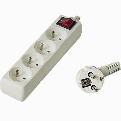 PremiumCord Prodlužovací přívod 230V 10m 4z.+vypínač