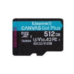 Kingston Canvas Go! Plus 512GB microSDXC karta, UHS-I V30 A2, 170R/100W