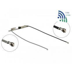 Delock WLAN Twin Anténa 2 x MHF® 4L samec 802.11 ac/a/h/b/g/n 1,12 - 3,18 dBi 1.13 36 cm interní šroubová montáž nebo s