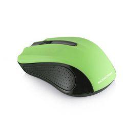 Modecom MC-WM9 bezdrátová optická myš, 3 tlačítka, 1200 DPI, USB nano 2,4 GHz, černo-zelená