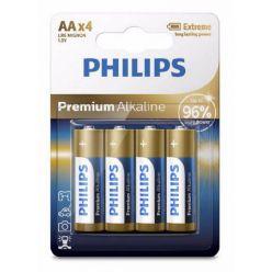 Philips Premium Alkaline AA baterie, 1.5V, 4ks