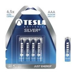 Tesla AAA SILVER+ alkalická, 4 ks