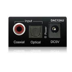 Bluestram DAC12AU, převodník z S/PDIF optiky/coaxu na analogové cinch stereo