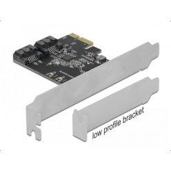 Delock interní 2-portový SATA III řadič, PCIe, low profile