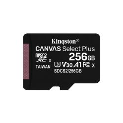 Kingston Canvas Select Plus 256GB microSDXC karta, UHS-I U3, A1, 100R/85W