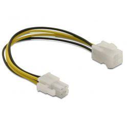 Delock prodlužovací napájecí kabel p4 (4-pinový) samec/samice, 15 cm