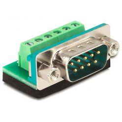 Delock Adaptér D-Sub 9 samec > svorkovnice 6 pinů