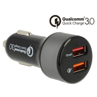 Navilock Autonabíječka, 2x USB, Qualcomm Quick Charge 3.0