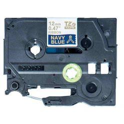 Brother - TZE-RN34 námořní modř / zlatá (12mm, 4m, pruhovaná)