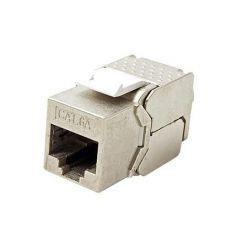 Keystone konektor kat. 6a, stíněný, 180°, slim, montáž bez nástrojů