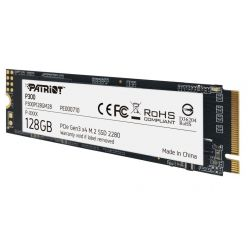 Patriot P300 128GB SSD M.2 2280 (PCIe 3.0 x4), 1600R/600W