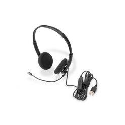 DIGITUS kancelářská náhlavní souprava na uši s redukcí hluku, USB