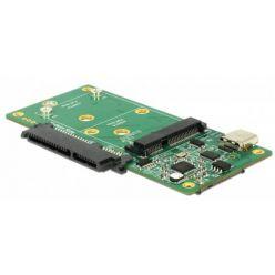 Delock USB 3.1 převodník z USB-C na  SATA/M.2 (SATA)/mSATA