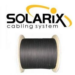 Solarix optický kabel DROP1000  12 vl. 9/125 SM LSZH universal, 500m, černý