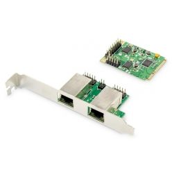 Digitus Dual Gigabit Ethernet Mini PCI Express síťová karta