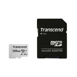 Transcend 256GB microSDXC karta, UHS-I U3 V30 A1 + adaptér