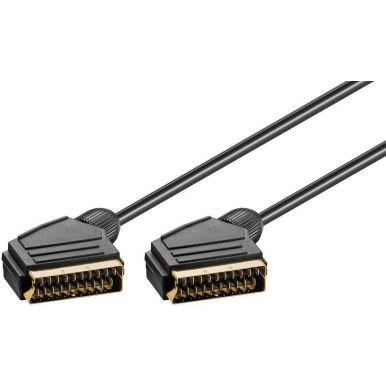 Goobay stíněný propojovací SCART kabel, 1.5m, zlacené konektory