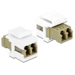 Delock Keystone modul LC Duplex Buchse > LC Duplex Buchse Multimód