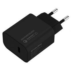 COLORWAY 1x USB-C/ síťová nabíječka/ 20W/ 100V-240V/ Černá