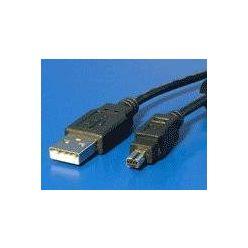 USB 2.0 kabel, typ A -> mini 8pin Minolta, 1.8m, černý