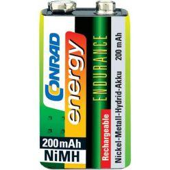 Conrad Energy Endurance 9V NiMH akumulátor, 8.4V, 200mAh, 1ks