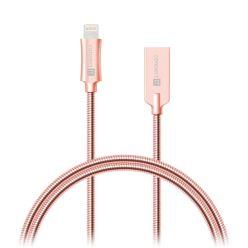 CONNECT IT Wirez Steel Knight Lightning -> USB, metallic rose-gold, 1m