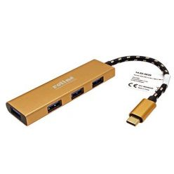 Roline Gold 4-portový USB 3.0 Hub (připojení USB-C)