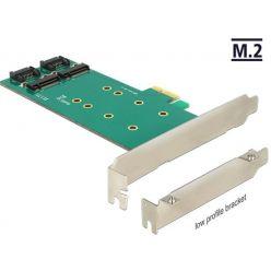 Delock PCIe redukce na 2x internal M.2 Key B 110mm, LP