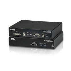 ATEN KVM extender CE-680 USB , DVI KVM extender pro konzoli s USB klávesnicí a myší přes optický kabel, dosah 600 metrů